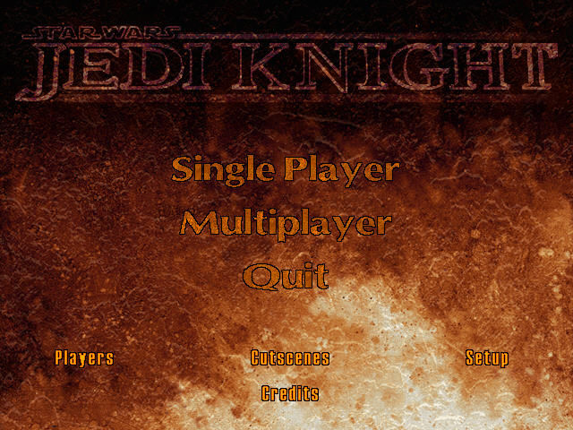 Star Wars: Jedi Knight - Dark Forces II Windows Main menu