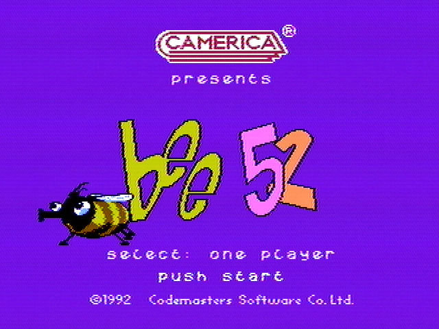Bee 52 NES Title screen