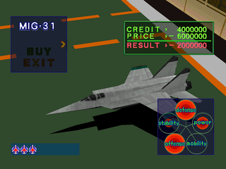 Air Combat PlayStation MIG-31
