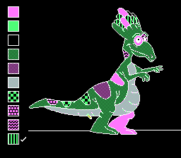 Color a Dinosaur NES Behold my monster!