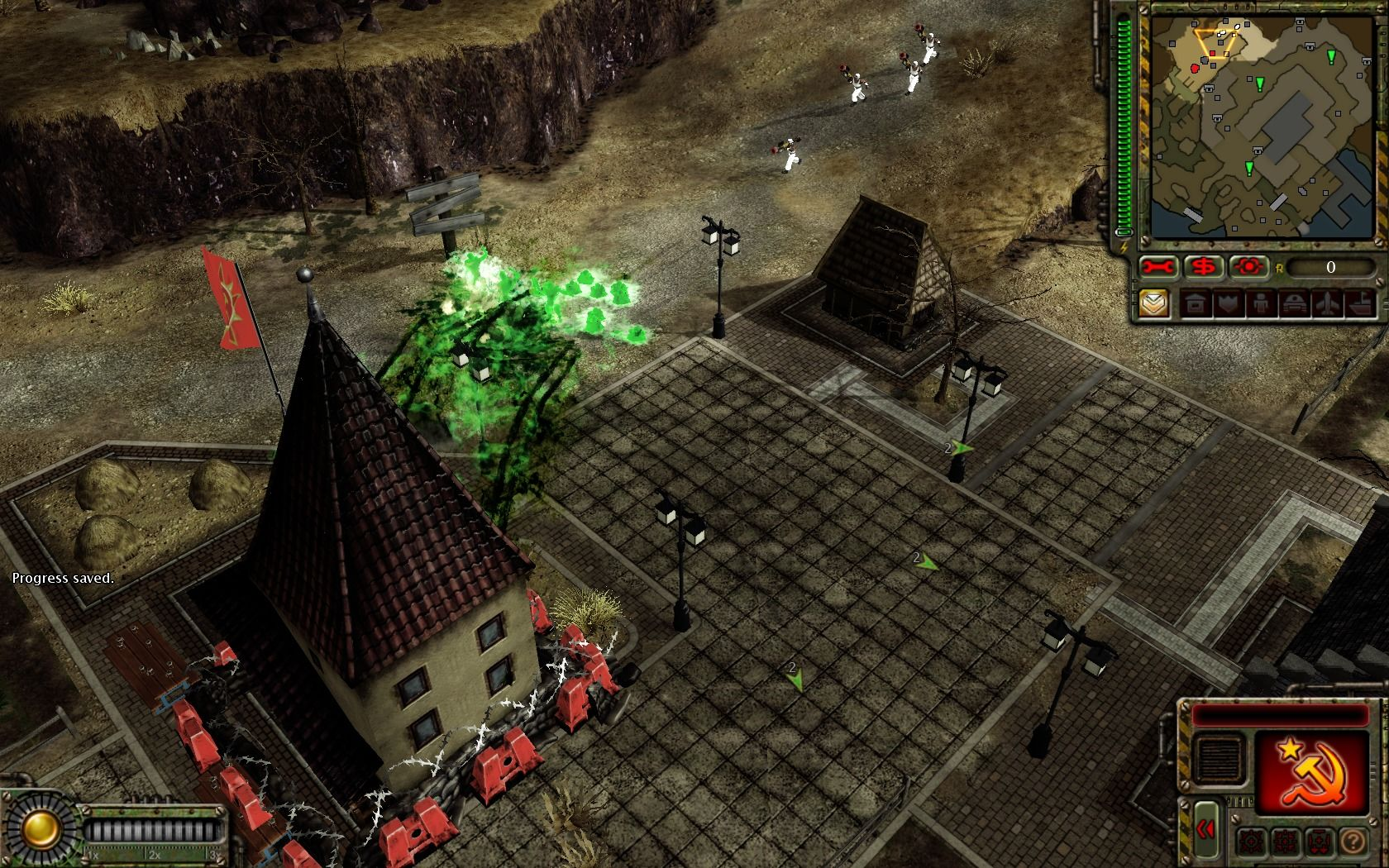 Command & Conquer: Red Alert 3 - Uprising Windows Soviet new desolator units are deadly for the infantry.