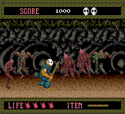 Splatterhouse TurboGrafx-16 The dungeon is getting crowded