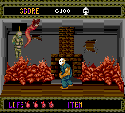 Splatterhouse TurboGrafx-16 The level 1 boss-- a bunch of deadly leeches