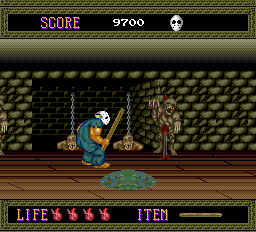 Splatterhouse TurboGrafx-16 Stage 2-- watch out for the deadly vomit