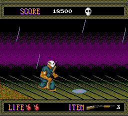 Splatterhouse TurboGrafx-16 Watch out for the mobile holes on the bridge