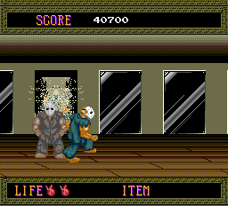 Splatterhouse TurboGrafx-16 The hero fights his reflection many times