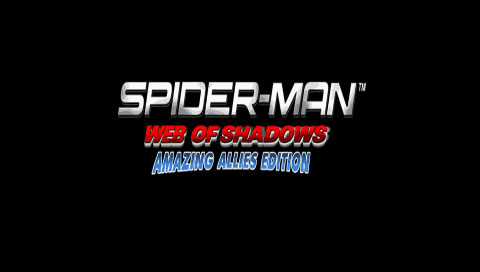 Spider-Man: Web of Shadows - Amazing Allies Edition PSP Title screen