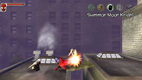 Spider-Man: Web of Shadows - Amazing Allies Edition PSP Fighting some tough guys.