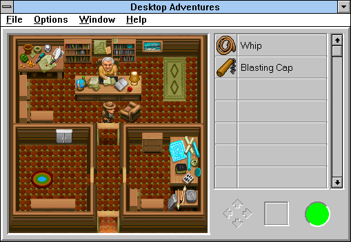 Indiana Jones and his Desktop Adventures Windows 3.x Marcus Brody's office.