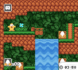 Toki Tori  Game Boy Color The first level, with a cool waterfall animation