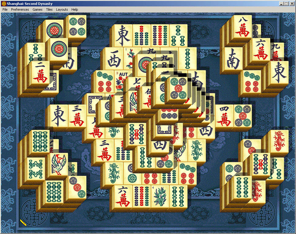 Shanghai: Second Dynasty Windows American tileset, Pyramid 3 layout