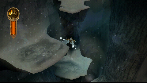 The Golden Compass PSP Climbing down beautiful snow ledges