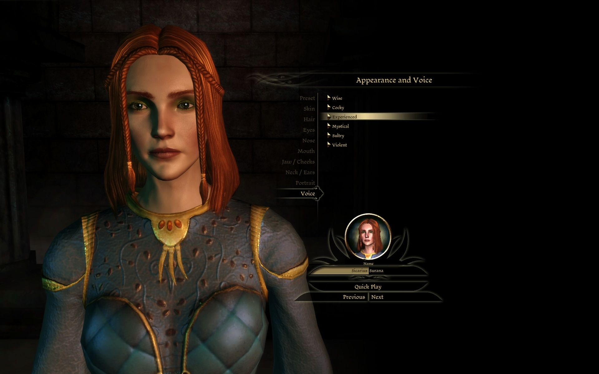 Dragon Age: Origins Windows Character Creation