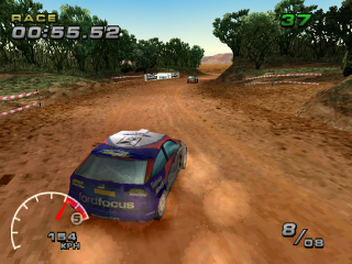 WRC: FIA World Rally Championship Arcade PlayStation Telstra Rally Australia, first track on easy