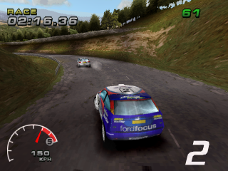 WRC: FIA World Rally Championship Arcade PlayStation Spain Rallye Catalunya, about to take first place