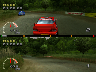 WRC: FIA World Rally Championship Arcade PlayStation Germany, two player versus mode