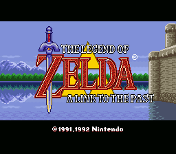The Legend of Zelda: A Link to the Past SNES US title screen