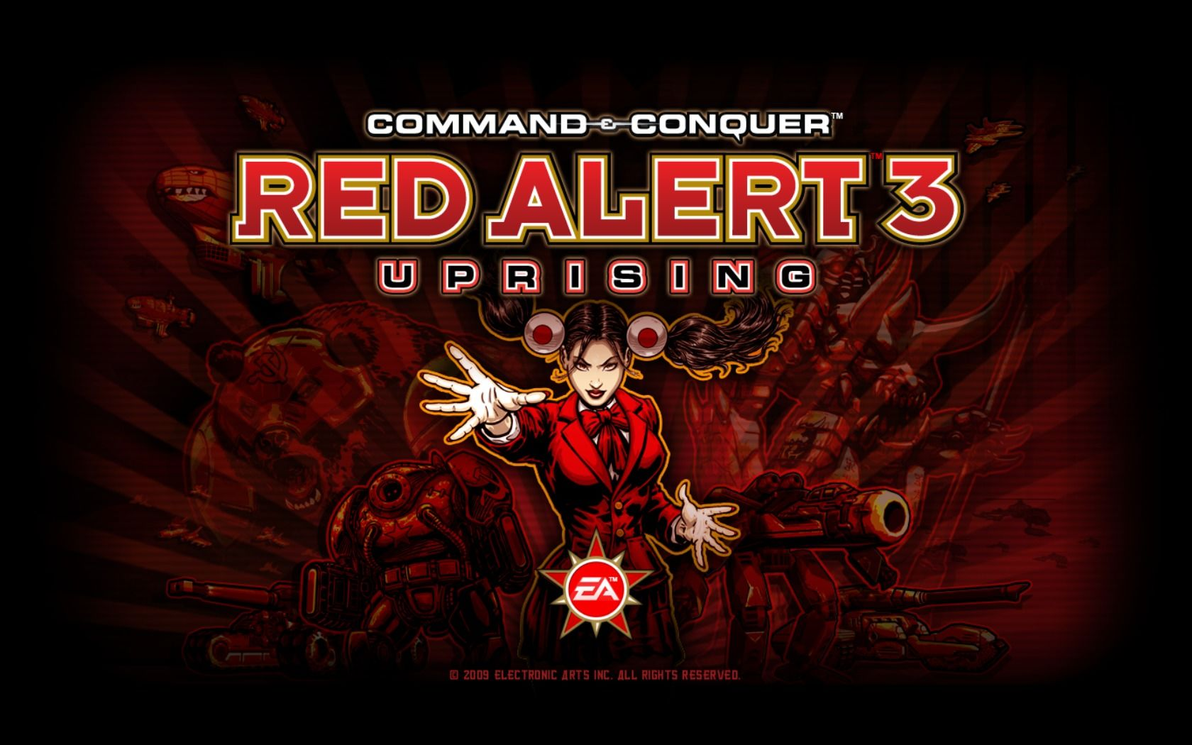 Command & Conquer: Red Alert 3 - Uprising Windows Title screen.