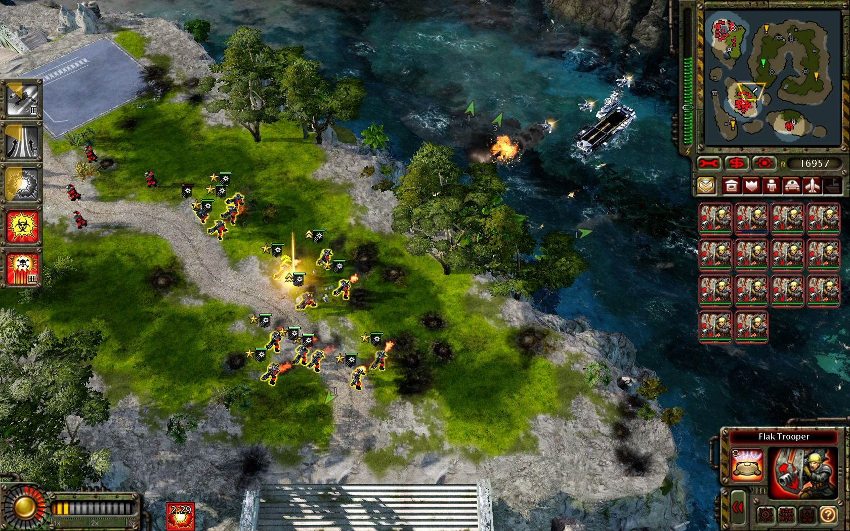 Command & Conquer: Red Alert 3 - Uprising Windows Nothing passes by a bunch of fully promoted Flak Troopers.
