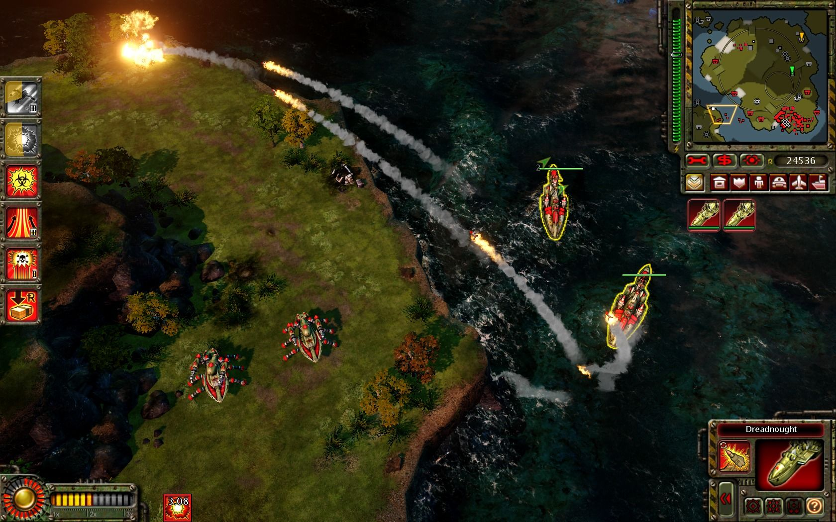 Command & Conquer: Red Alert 3 - Uprising Windows Dreadnoughts are deadly at long range