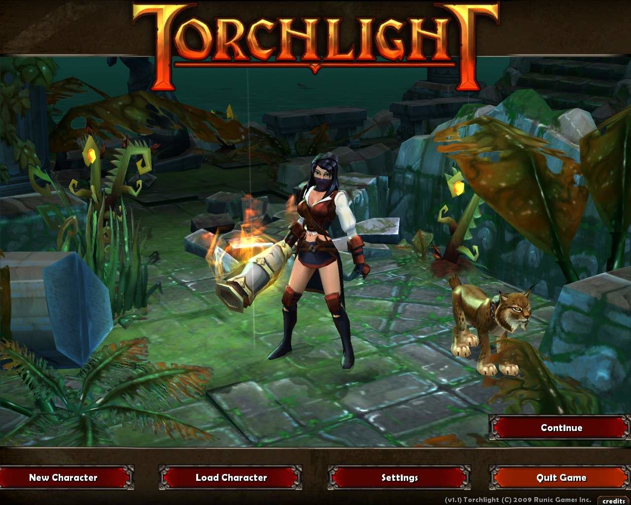 Torchlight Windows You can see your character on the title screen