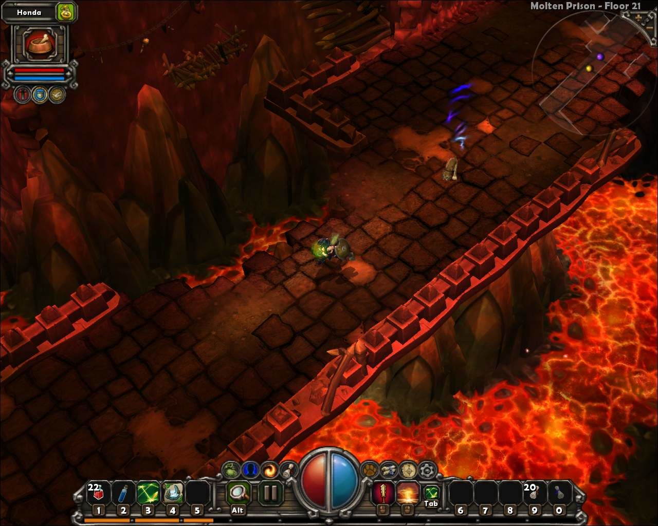 Torchlight Windows Lava filled level