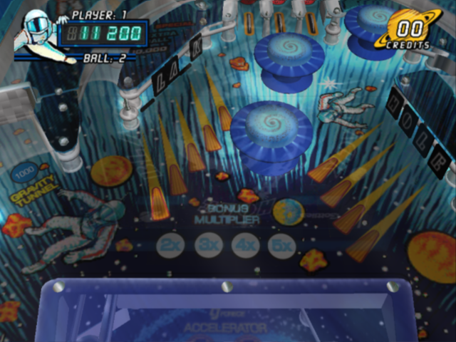 Pinball Hall of Fame: The Gottlieb Collection PlayStation 2 Black Hole - drop targets