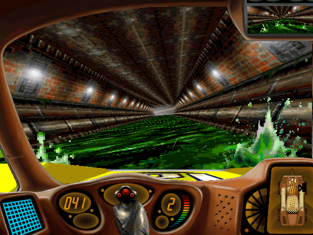 Carmageddon DOS Instead of a road - a sewer, instead of a steering wheel - a joystick...