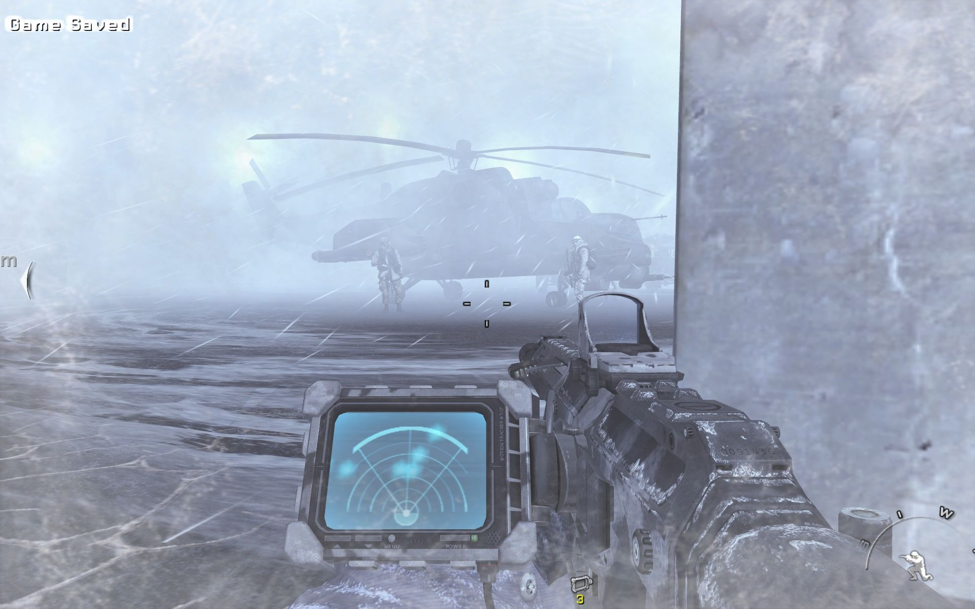 Call of Duty: Modern Warfare 2 Windows The snowstorm keeps me from being spotted.
