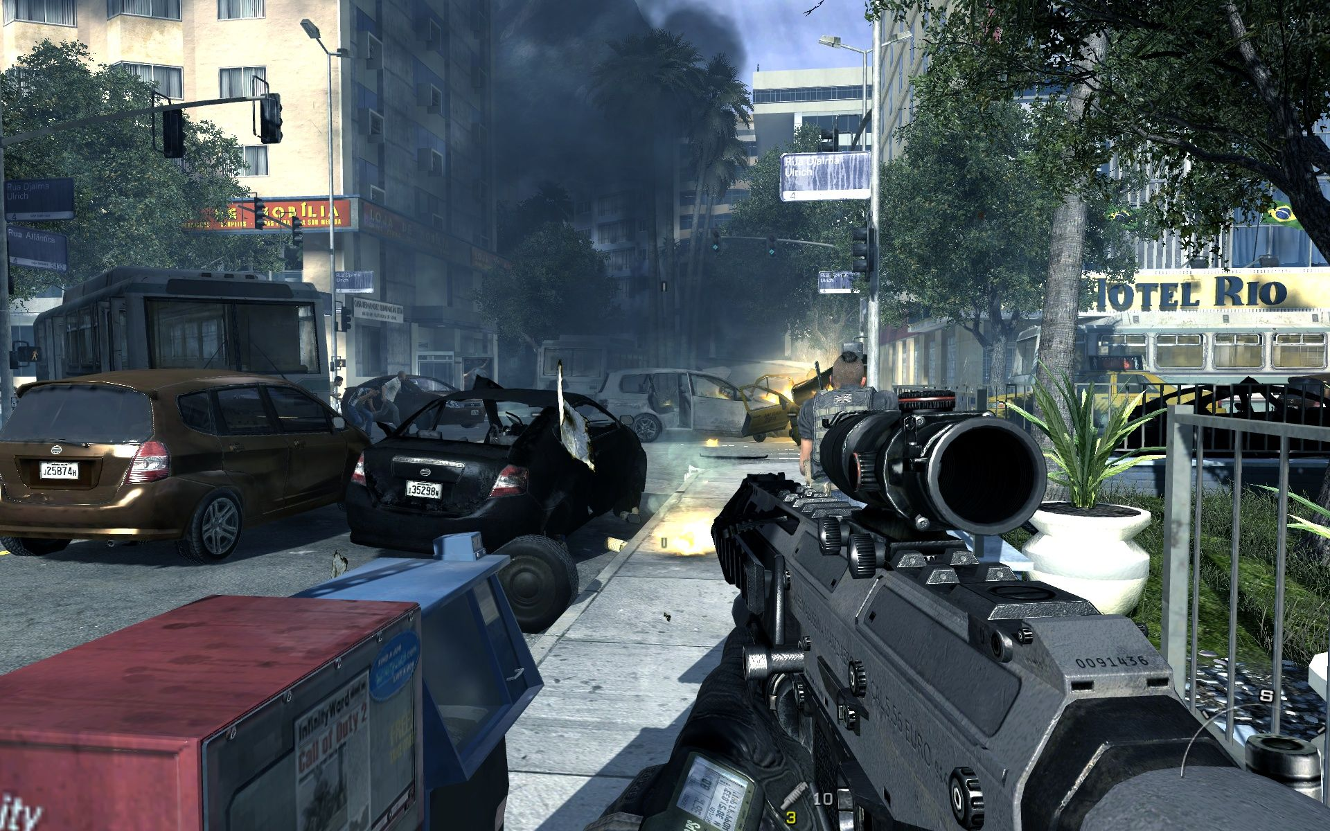Call of Duty: Modern Warfare 2 Windows This part of the city is in chaos.