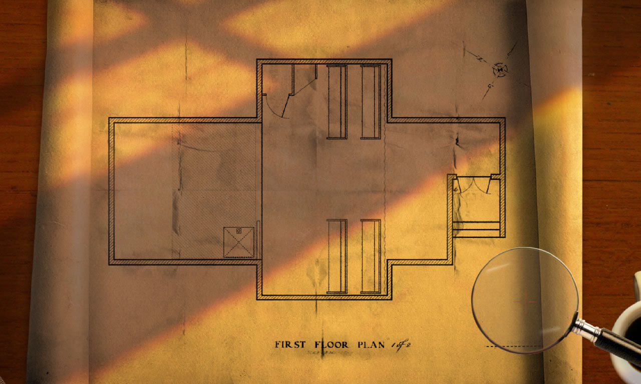 Casebook: Episode III - Snake in the Grass Windows New mini game: investigating a floor plan