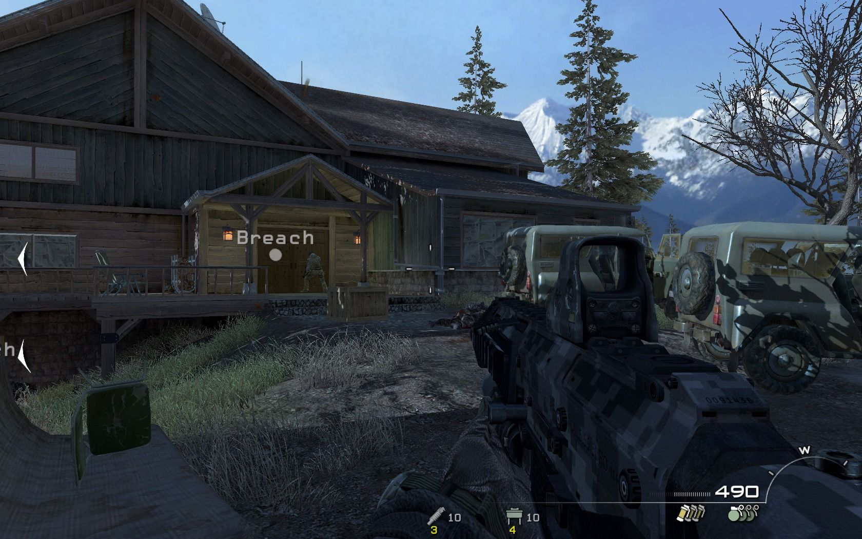 Call of Duty: Modern Warfare 2 Windows Breaching doors or walls with explosive will create a slow-motion mode allowing you to pick your targets clean on your entry.