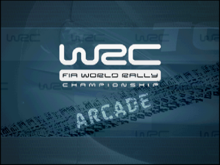 WRC: FIA World Rally Championship Arcade PlayStation Title screen