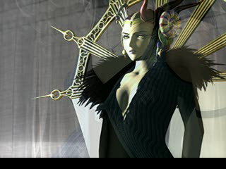 Final Fantasy VIII PlayStation Intro continues. Edea. Ominous church-like music with choir and orchestra
