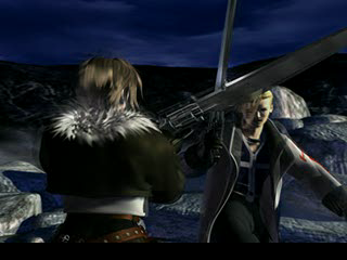 Final Fantasy VIII PlayStation Squall and Seifer: friends? Enemies? Latent homosexuals? You decide!..