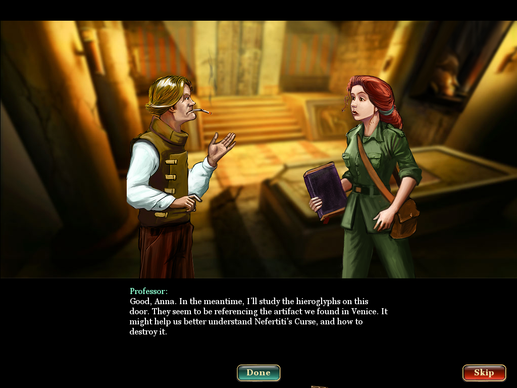 Curse of the Pharaoh: Tears of Sekhmet Windows Professor and Anna