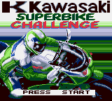 Kawasaki Superbike Challenge Game Gear Main title screen