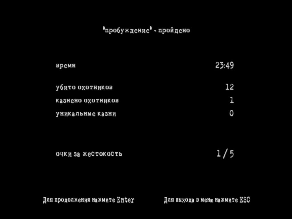 Manhunt 2 Windows Level Statistics (in Russian)