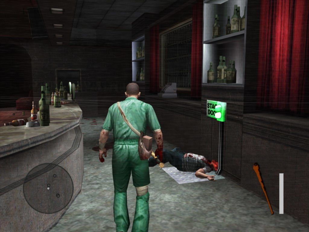 Manhunt 2 Windows Recently killed bartender is used to open the locked door