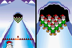 Elf Bowling 1&2 Game Boy Advance Starting a game of Elf Bowling.