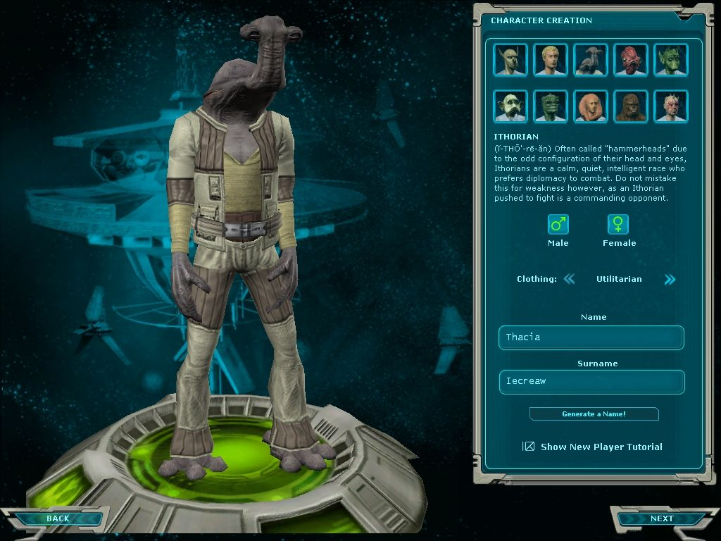 Star Wars: Galaxies - Jump to Lightspeed Windows Ithorian character, added with the expansion.