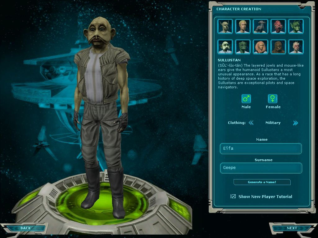 Star Wars: Galaxies - Jump to Lightspeed Windows Sullustan character, also new with the expansion