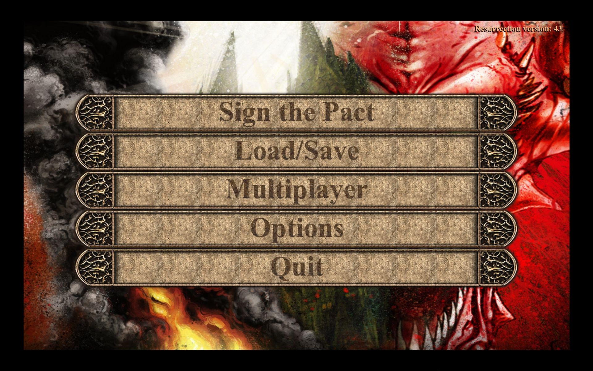 Painkiller: Resurrection Windows Main Menu
