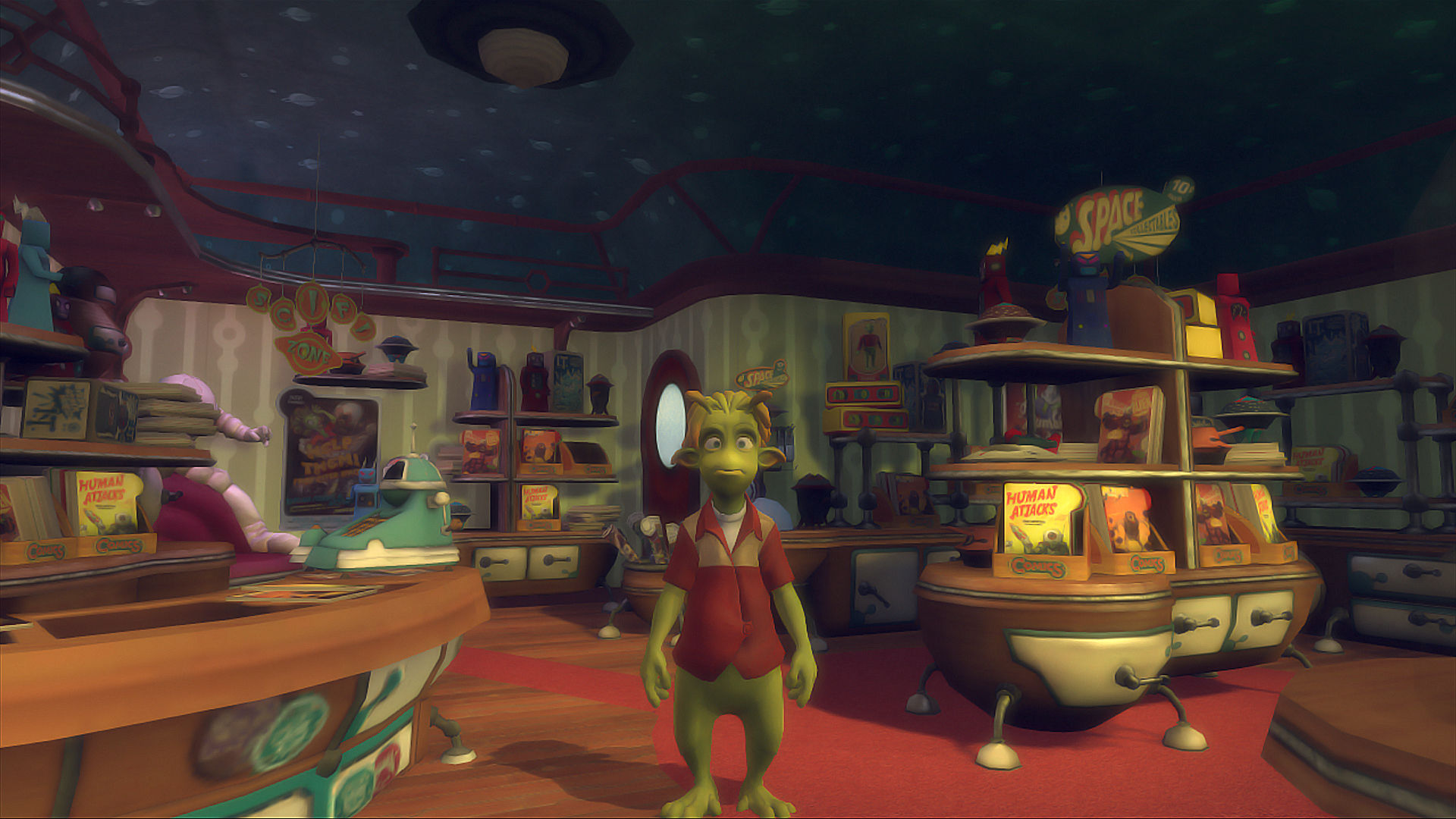 Planet 51: The Game Xbox 360 Inside Skiff's comic book store