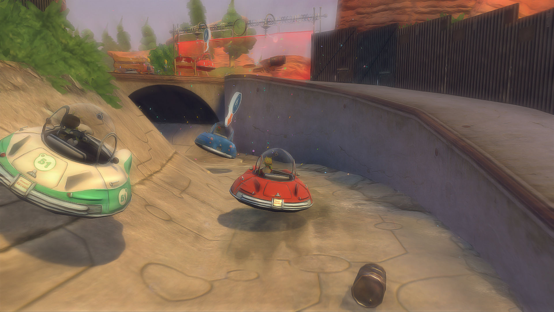 Planet 51: The Game Xbox 360 Racing in the canals