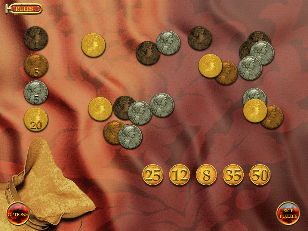 Mystery of Cleopatra Windows Coins puzzle