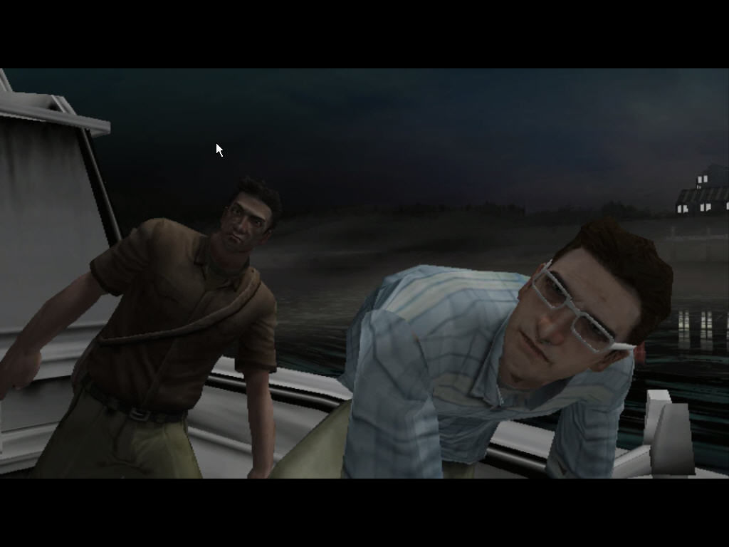 Manhunt 2 Windows Danny and Leo arrive in the boat
