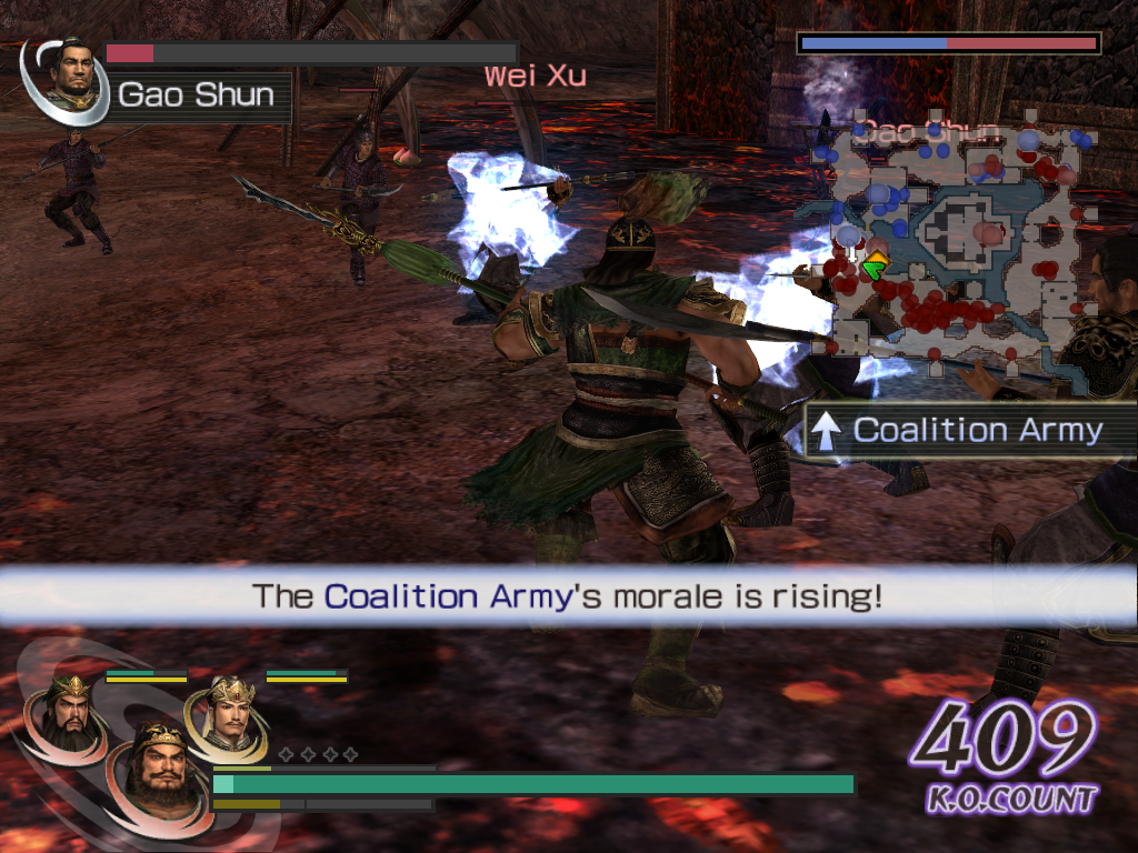 Warriors Orochi Windows One of the powers a weapon can have is to freeze the opponents for a brief moment. This is useful when confronted with several strong enemies.