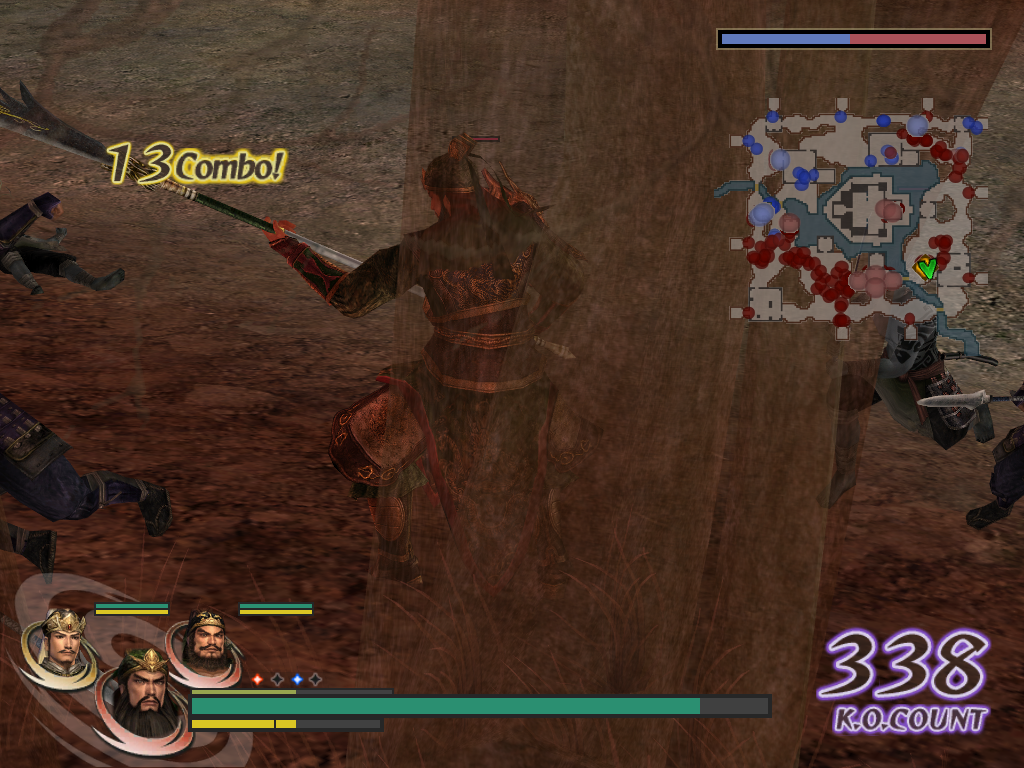 Warriors Orochi Windows On most objects that would hinder the view during a fight, a transparency effect is applied. Here, on a tree in the foreground.