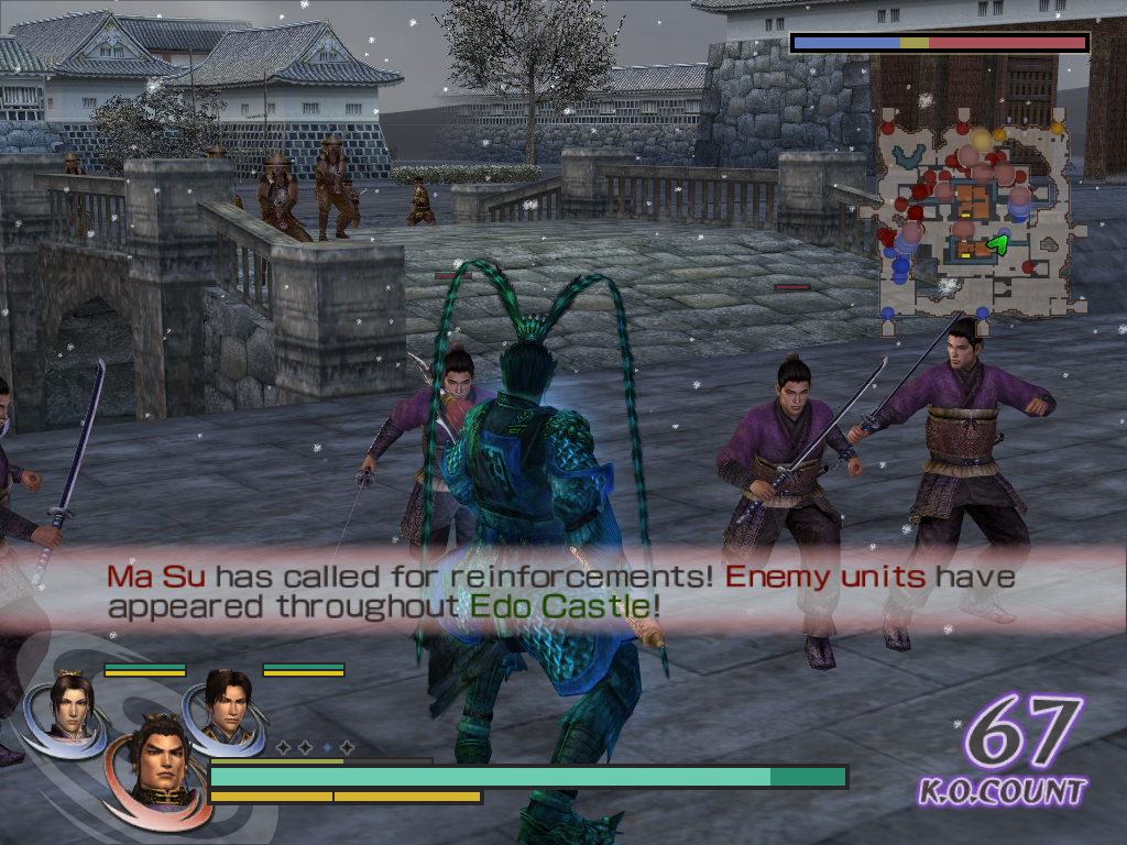 Warriors Orochi Windows The game contains some weather effects, like snow here, although they do not affect the gameplay.